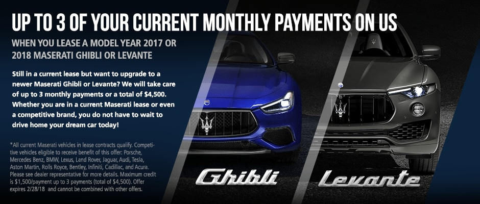 Lease a new maserati with attractive lease deals in fort lauderdale up to 3 payments on us sciox Choice Image