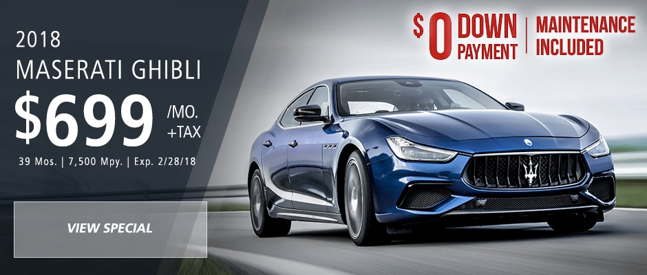 Lease a new maserati with attractive lease deals in fort lauderdale 2018 maserati ghibli lease offer sciox Choice Image
