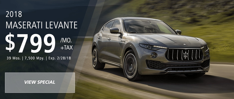 Lease a new maserati with attractive lease deals in fort lauderdale 2018 maserati levante lease sciox Choice Image