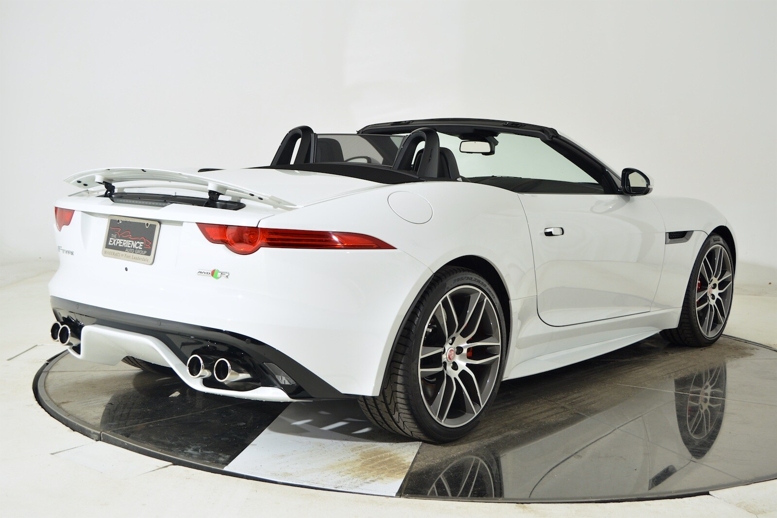 used 2016 jaguar f type r convertible in white for sale ferrari of fort lauderdale. Black Bedroom Furniture Sets. Home Design Ideas