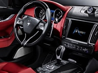 Maserati Levante red leather interior