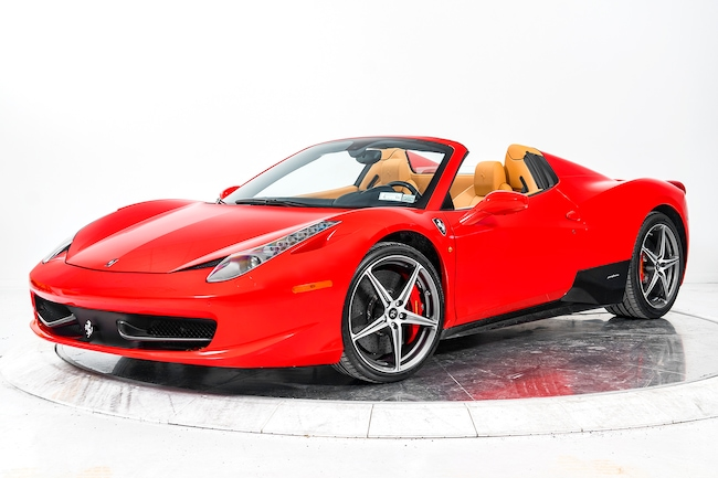 2012 FERRARI 458 SPIDER Convertible for sale in Plainview, NY at Ferrari of Long Island
