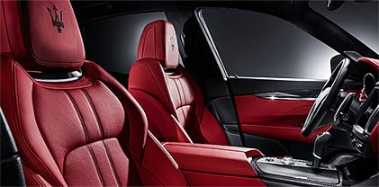 Maserati Levante red luxury interior