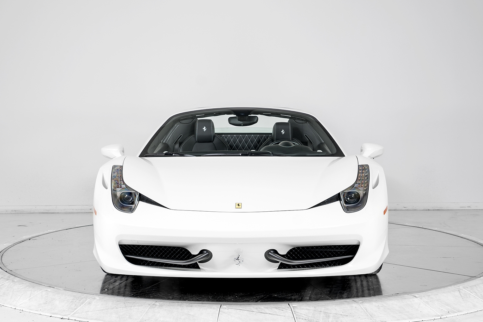 ferrari 2014 white. 2014 ferrari 458 spider convertible for sale in plainview ny at maserati of long island ferrari white 1