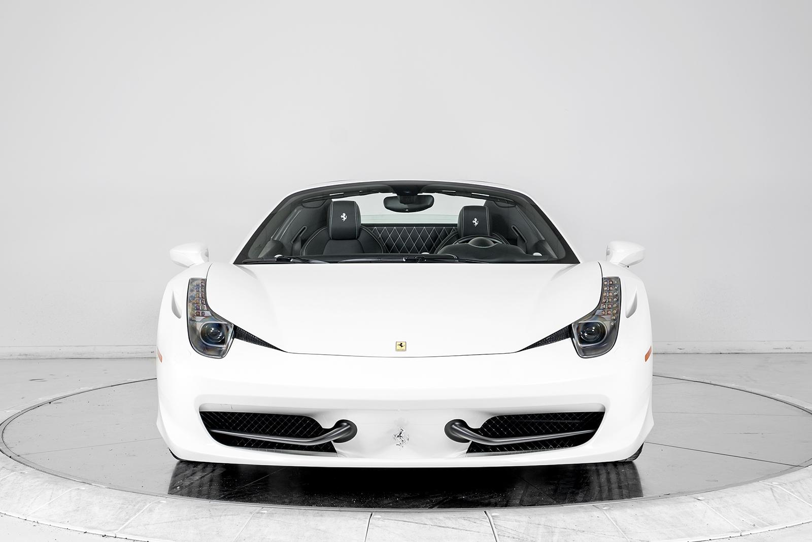 ferrari 2014 white. 2014 ferrari 458 spider convertible for sale in plainview ny at maserati of long island ferrari white 1