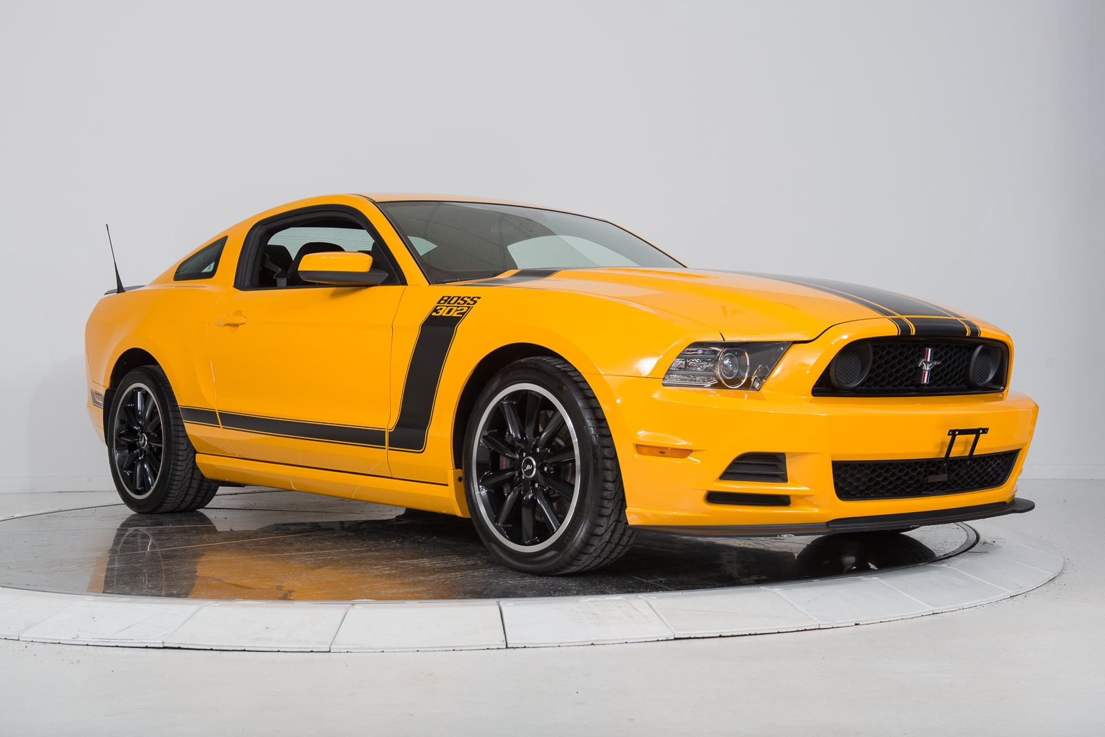used 2013 ford mustang boss 302 in yellow for sale ferrari of fort lauderdale. Black Bedroom Furniture Sets. Home Design Ideas
