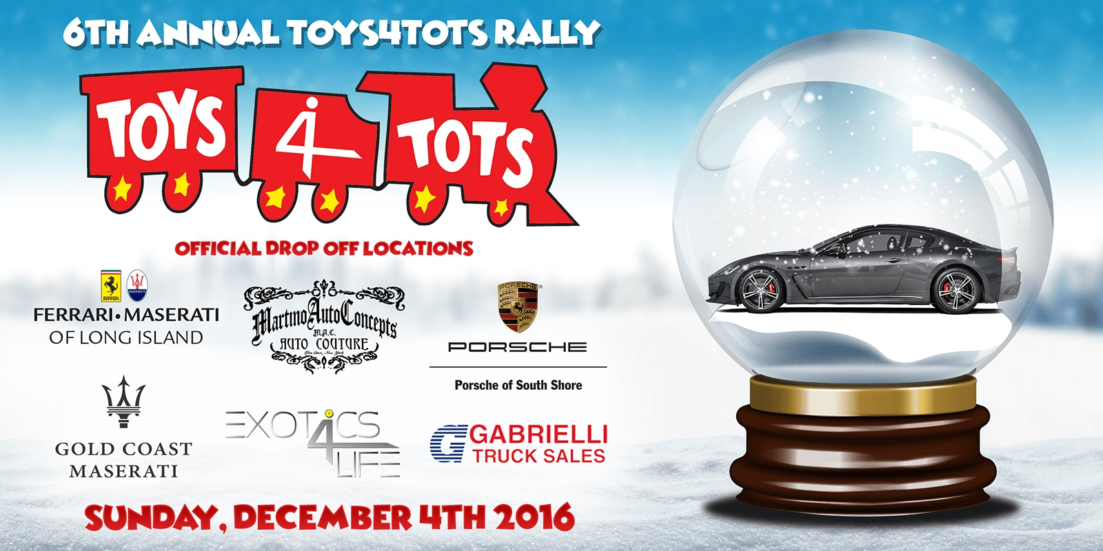 Annual Totys4Tots in Long Island