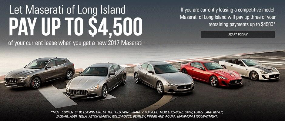 Maserati of Long Island Lease Offer