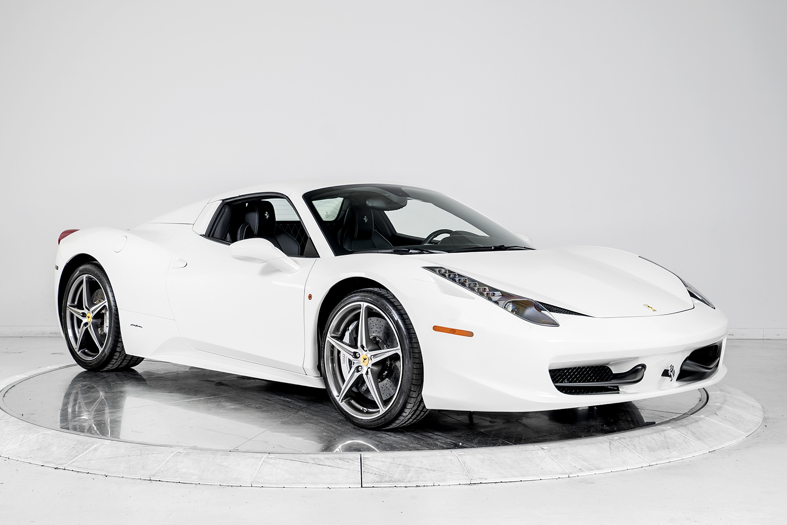 ferrari 2014 white. 2014 ferrari 458 spider convertible for sale in plainview ny at maserati of long island ferrari white a
