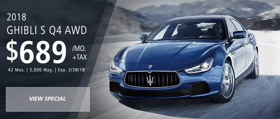 Lease a new maserati with attractive lease deals in long island nyc 2018 maserati ghibli s q4 awd lease special sciox Choice Image