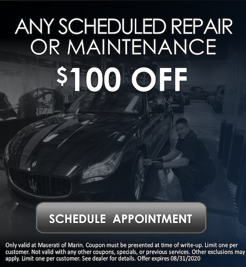 Scheduled Repair or Maintenance Special