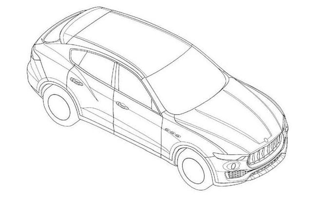 Maserati Levante Patent Drawings