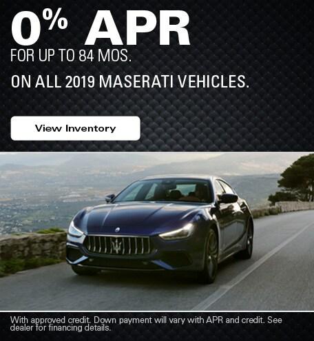 Maserati Financing Offer