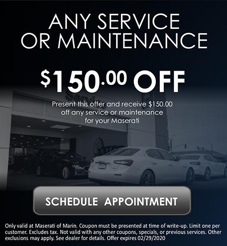 Any service or maintenance
