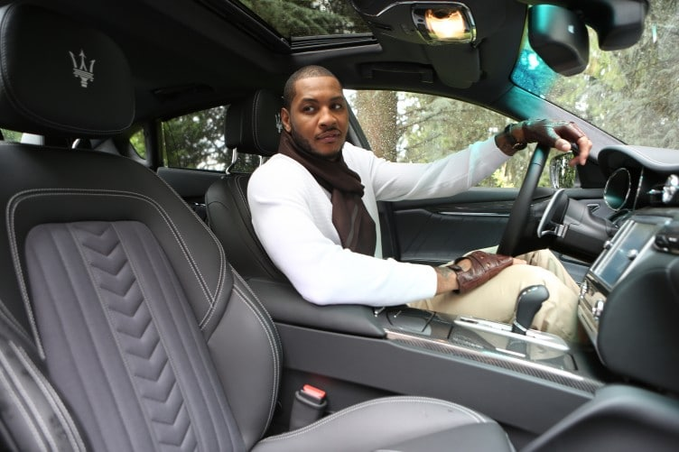 Carmelo Anthony Drafted By Luxury Brands Zegna And Maserati