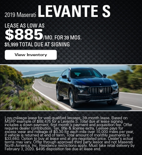 Maserati Levante S Lease Offer