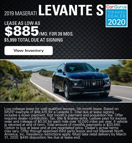 Maserati Levante S Lease Offer