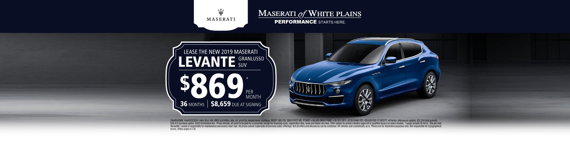 a maserati levante lease deal not to miss