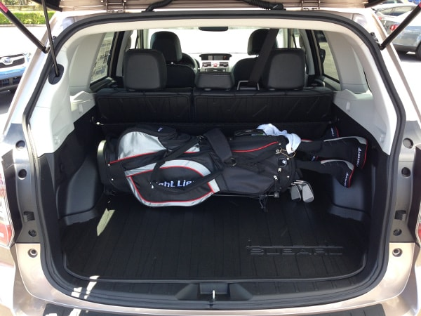 Subaru Forester with sporting equipment