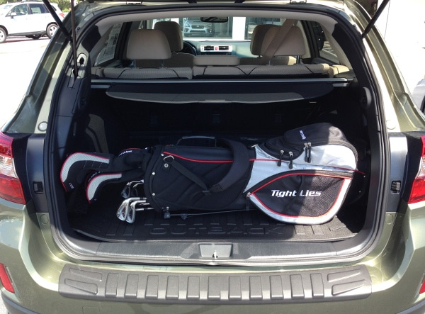 Golf bag in the Subaru Outback