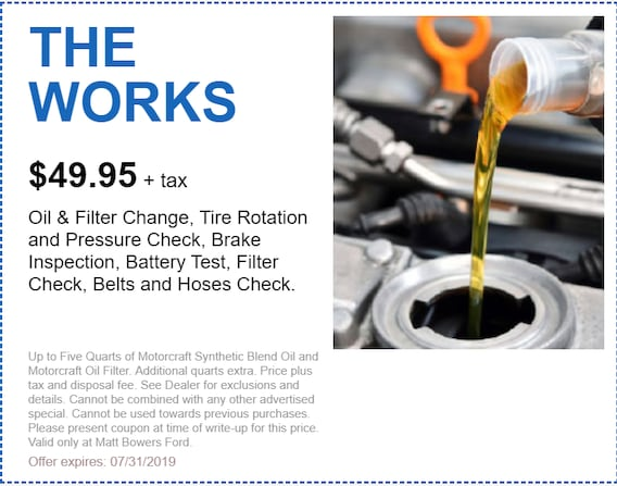 Ford Oil Change Coupon >> Oil Changes By Certified Mechanics Coupons Specials