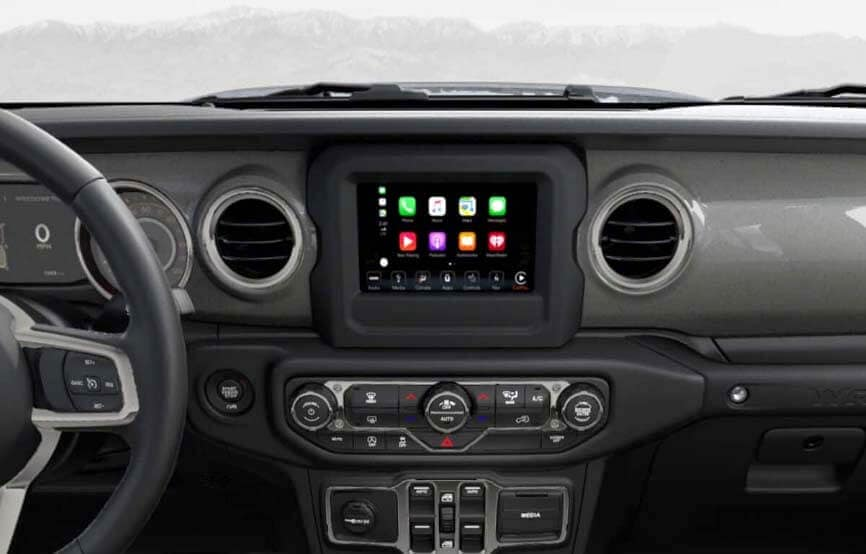 2019 Jeep Wrangler Interior Technology Console