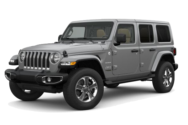 Picture of the 2019 Jeep Wrangler Sahara silver