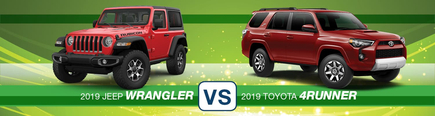 2019 Jeep Wrangler vs. 2019 Toyota 4Runner