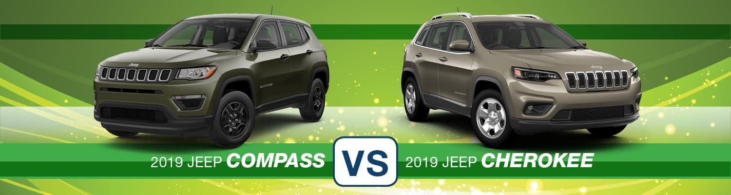 2019 Jeep Compass vs. 2019 Jeep Cherokee