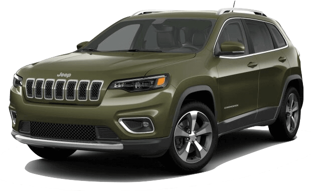Picture of a 2019 Jeep Cherokee Limited green exterior
