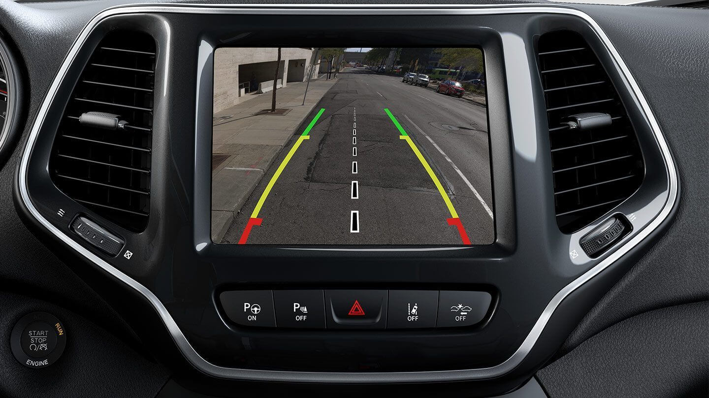 Picture of 2019 Jeep Cherokee interior rearview camera safety feature