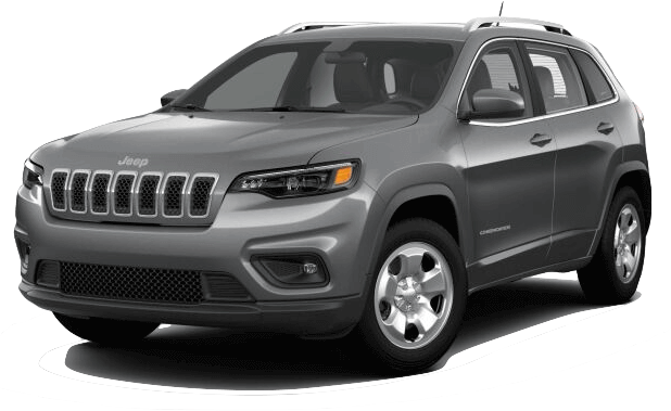 Picture of a 2019 Jeep Cherokee Latitude silver exterior