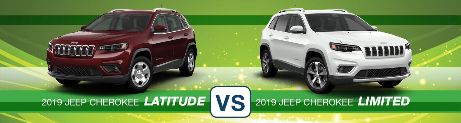 2019 Jeep Cherokee Latitude vs. Limited