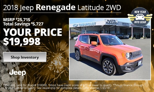 January '19 Renegade Offer