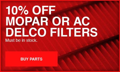 Mopar or AC Delco Filters