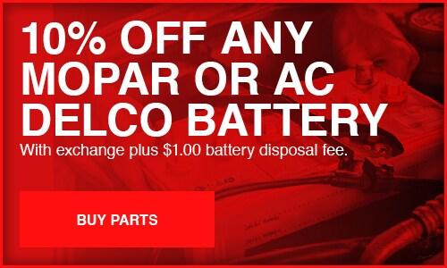 Mopar or AC Delco Battery Special