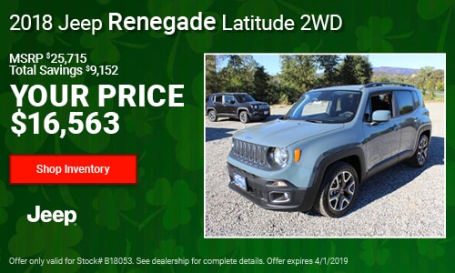 March '19 Renegade Cash Offer