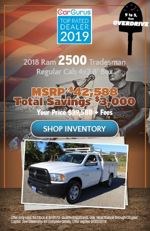 September 2018 Ram 2500 Tradesman Regular Cab 4x2 8' Box Offer