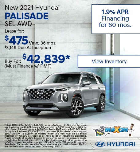 February New 2021 Hyundai Palisade SEL AWD