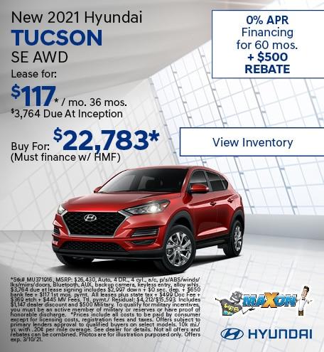 Updated February 2021 Hyundai Tucson SE