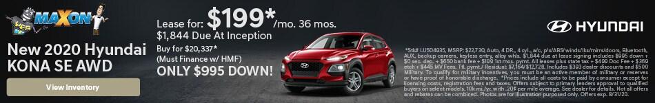 August 2020 Hyundai Kona