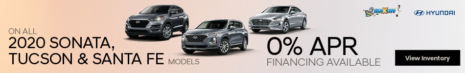 January On ALL 2020 Sonata, Tucson & Santa Fe models