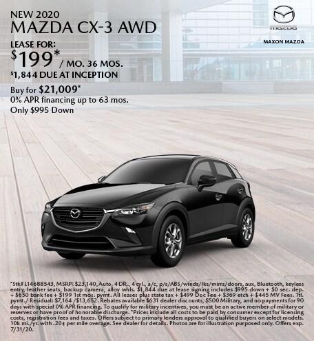 July New 2020 Mazda CX-3 AWD