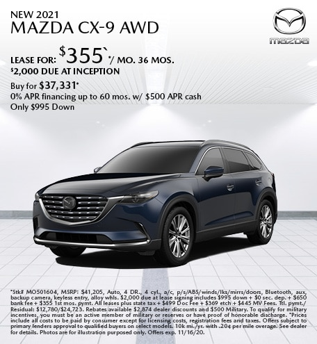 New 2021 Mazda CX-9 AWD
