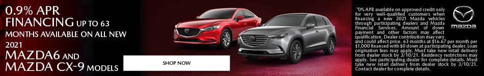 February 0.9% APR financing up to 63 months