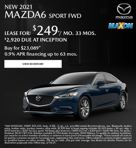 January New 2021 Mazda6 Sport FWD