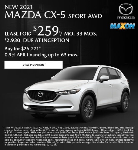 January New 2021 Mazda CX-5 Sport AWD