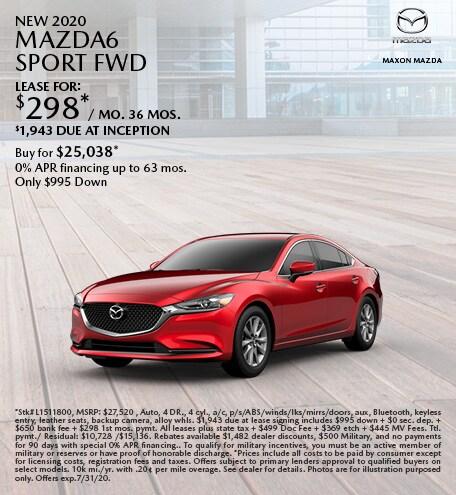 New 2020 Mazda6 Sport FWD