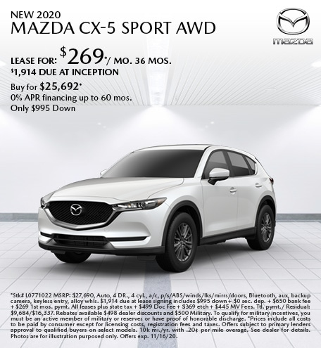 New 2020 Mazda CX-5 Sport AWD