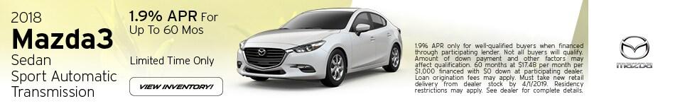2018 Mazda3 Sedan Sport Automatic Transmission